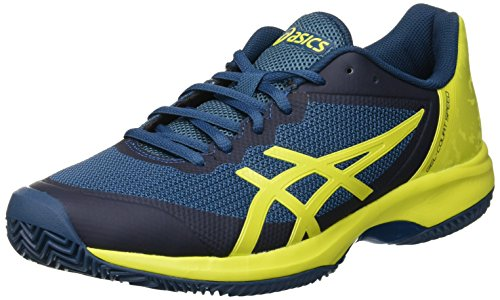 ASICS Gel-Court Speed Clay, Scarpe da Tennis Uomo, Multicolore (Ink Blue/Sulphur Spring/Turkish Tile...