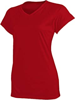 Champion Women's Short Sleeve Double Dry Tee Shirt, Scarlet, X-Large