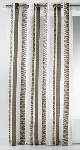 Home Maison HM6921398Cortina de Rayas Verticales Bordado Fantasía Etamine poliéster 140x 260cm