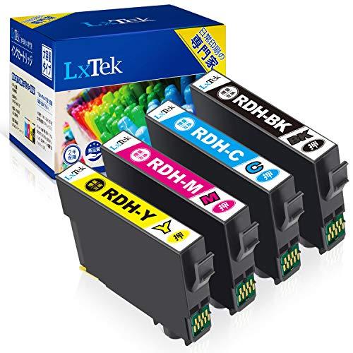 【LxTek】RDH-4CL 互換インクカートリッジ エプソン(Epson)用 RDH リコーダー インク 4色セット(合計4本) 大容量/説明書付/残量表示/個包装 PX-048A PX-049A