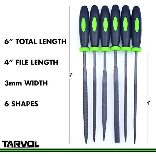 Product Image 6: Needle File Set (HIGHEST QUALITY 6 PIECE SET) Hardened Alloy Strength Steel – Mini Needle File Set Includes Flat, Flat Warding, Square, Triangular, Round, and Half-Round File.