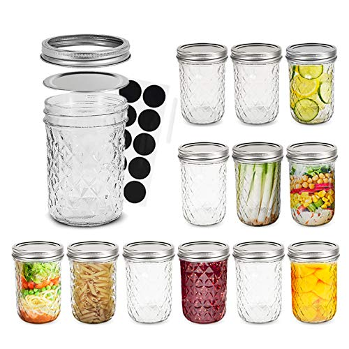 (50% OFF) 8 oz Mason Jars with Lids and Bands Set of 12 $13.50 – Coupon Code