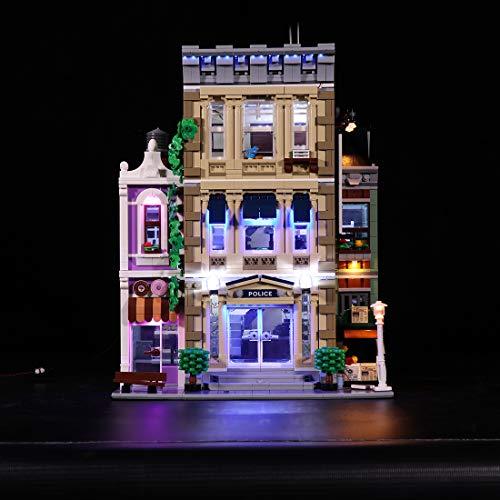 YOU339 Kit de iluminación LED compatible con Lego 10278, kit de iluminación para policía, versión clásica