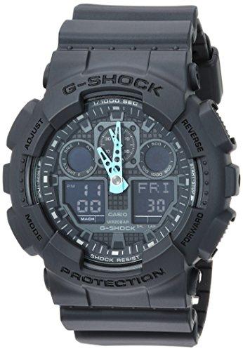 Casio GA-100C-8ACR Orologio analogico digitale da uomo, G-Shock