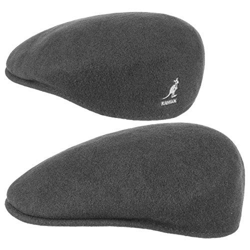 Kangol Herren Damen Mütze Schirmmütze Flatcap Original 504 | Schlägermütze mit Kultstatus 0258BC Schirmmütze Mütze (L/58-59 - anthrazit)