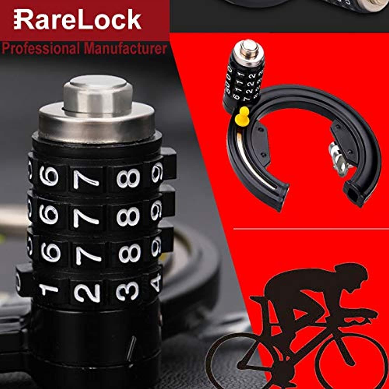 Rarelock MS530 Combination Bike Lock Bicycle Padlock 4 Digit Fixed Password for Travel Sport School Student Transportation DIY h