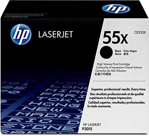 HP 55X (CE255X) Schwarz Original Toner mit hoher Reichweite für HP Laserjet Enterprise P3015, M525, HP Laserjet Pro M521