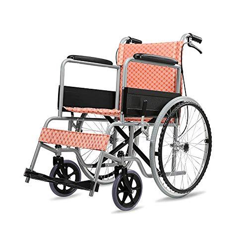 B-K Faltbarer Tragbarer Manueller Rollstuhlwagen für Ältere Menschen Reisen mit Behinderungen Ultraleichter Tragbarer Kinder-Scooter Manueller Reisewagen - Last 100 Kg Rollstuhl, a