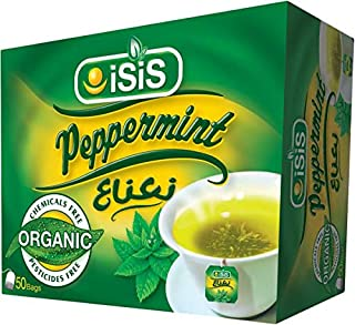 100% Organic Isis Peppermint Spearmint Herbal Tea Natural 50 Bags نعناع (Mint 50 Bags)