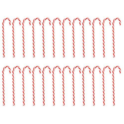 VORCOOL Ciondolo Bastoncino di Zucchero Addobbi per L'Albero di Natale Addobbi Natalizi Decorazioni Natalizie Festive Oggetti di Scena - 30 Pezzi