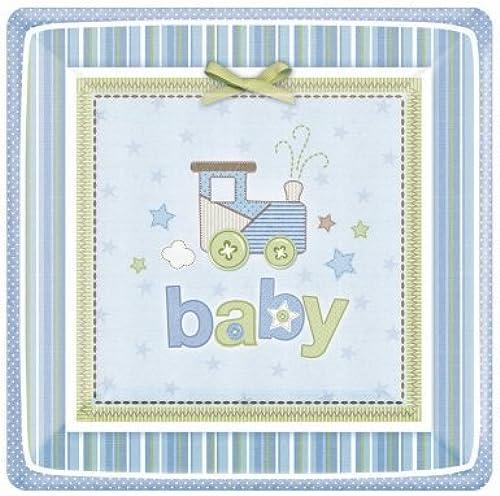 oferta de tienda Amscan 152611Carters Baby Baby Baby Boy cuadrado platos de postre  descuento de ventas
