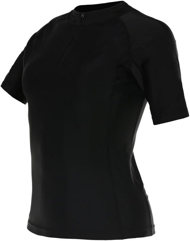 CAI Weiblich Sportbekleidung Trainingsanzug Kurzarm Laufen Bauch Fitness
