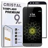 REY Protector de Pantalla Curvo para LG G5, Negro, Cristal Vidrio Templado Premium, 3D / 4D / 5D