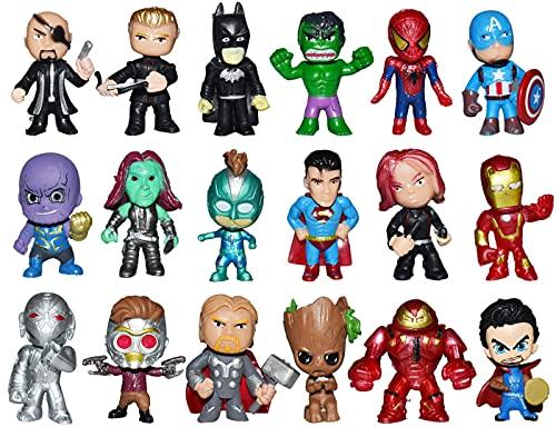 Cake Topper - Tomicy 18 Pcs Superhelden Avengers Figuren Geburtstags Party liefert Cupcake Figuren Party Kuchen Dekoration Lieferungen Figuren
