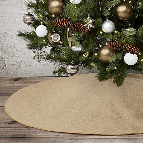 yuboo Burlap Christmas Tree Skirt,48