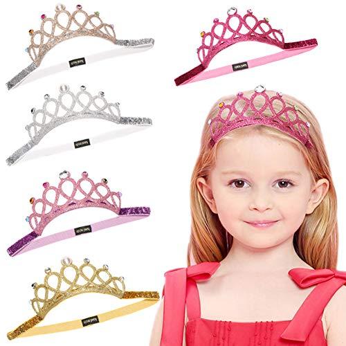Baby Toddler Elastic Chiffon Flower Headbands Princess Girls Hand Sewing Beads Flower Headwear Nylon (DN155)