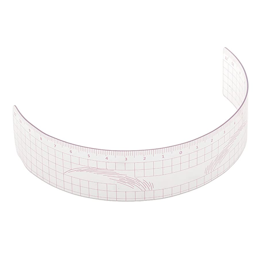 復讐グローブジョリーP Prettyia 眉毛の定規 眉毛ステンシル 眉毛ルーラー 測定用 ルーラー マイクロブレード 再利用可能 全3色 - ピンク