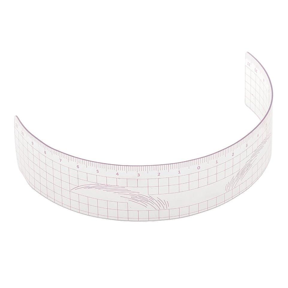 スペア幻影目指すP Prettyia 眉毛の定規 眉毛ステンシル 眉毛ルーラー 測定用 ルーラー マイクロブレード 再利用可能 全3色 - ピンク
