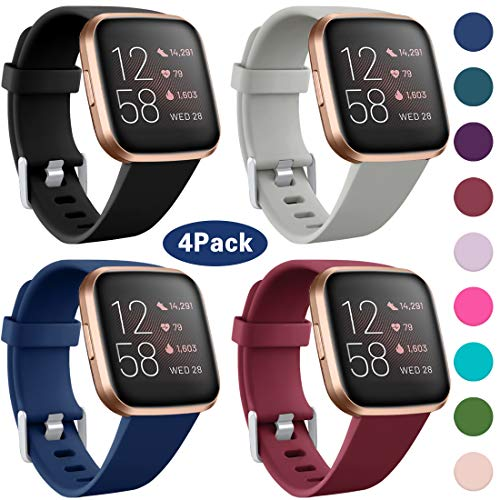 Maledan Compatible with Fitbit Versa 2 Bands for Women Men Soft Silicone Sport Band Replacement for Fitbit Versa 2/Versa…