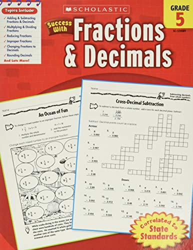 Scholastic Success with Fractions & Decimals, Grade 5 (Success With Math)