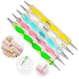 Lucky Brand 2-Wege-Punktierstift, Marmorierwerkzeug, Nagelkunst, A1, 5 Stück