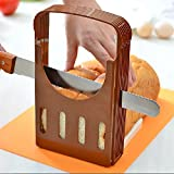 Bread Slicer Kitchen Slicing Guide Adjustable Bread Cutter Loaf Cutter Machine Foldable Bagels/Toast Slicer Sandwich Maker Baking Tools for Cutting Bread and Cake with 4 Thicknesses