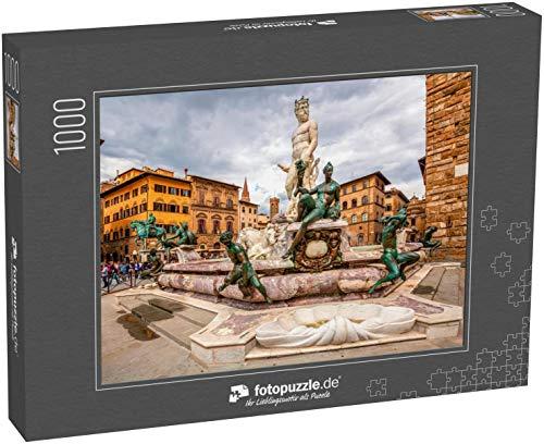 fotopuzzle.de Puzzle 1000 Teile Brunnen Neptun auf der Piazza Della Signoria in Florenz, Italien Florenz berühmter Brunnen