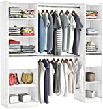 habeig RIESIGER Kleiderschrank #5077 begehbar offen Garderobe Schrank Regal Schublade (Weiß)