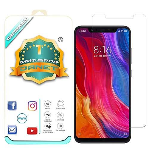"""Película De Vidro Temperado Para Xiaomi Mi 8 Normal De Tela 6.21"""" (Não serve no Lite), Proteção Blindada Top Premium - Danet"""