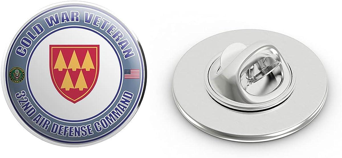 U.S. Army Cold War 32nd Air Defense Command Veteran Metal 0.75