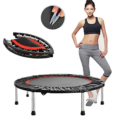 Simple K Mini Foldable Exercise Trampoline, life fitness Resistance to Friction Can Bear Weight 200kg, 100cm in Diameter