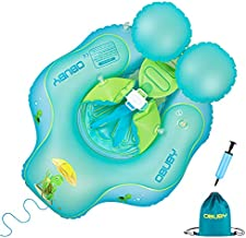 Obuby Baby Swimming Float Ring Inflatable Neck Pool Floats with Safe Bottom Support Children Waist Swim Water Toys Accessories for Toddler Age of 3-36 Months, Large