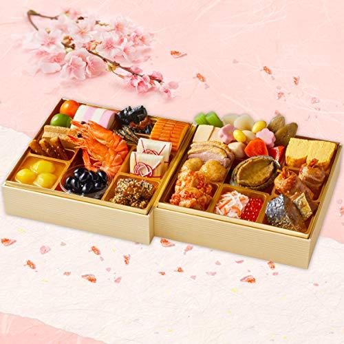 紀文 冷蔵 生詰め 生おせち 二段重「桜春」【12月30日お届け】早割 予約