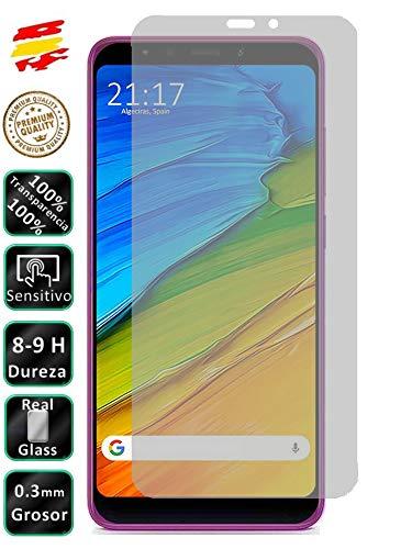 Movilrey Protector para Xiaomi Redmi 5 Plus Cristal Templado de Pantalla Vidrio 9H para movil
