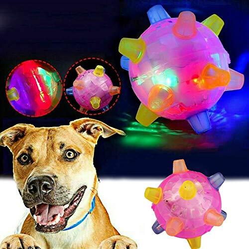 2 Stück springender Aktivierungsball für Hund, Springball Flash Music Ball, springende Bälle für Hunde mit buntem LED-Licht und Musik, blinkender tanzender Ball, geeignet für kleine Haustiere (1pcs)