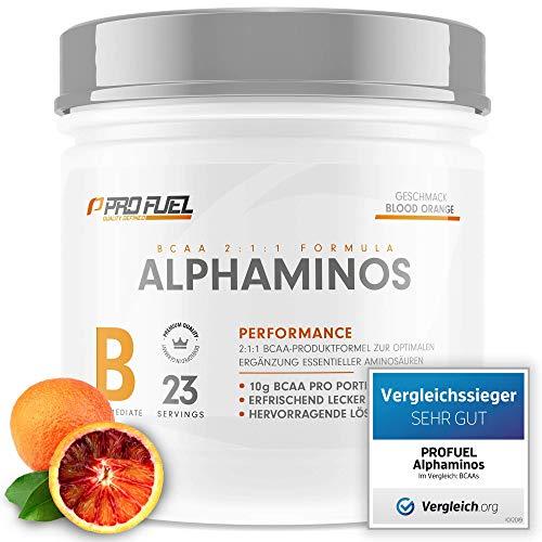 ALPHAMINOS   TESTSIEGER BCAA Pulver 2:1:1   Das ORIGINAL von ProFuel   Essentielle Aminosäuren  ...