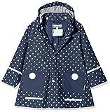 Playshoes - Abrigo impermeable con lunares de manga larga para niña, Azul, 4 años (104-110 cm)