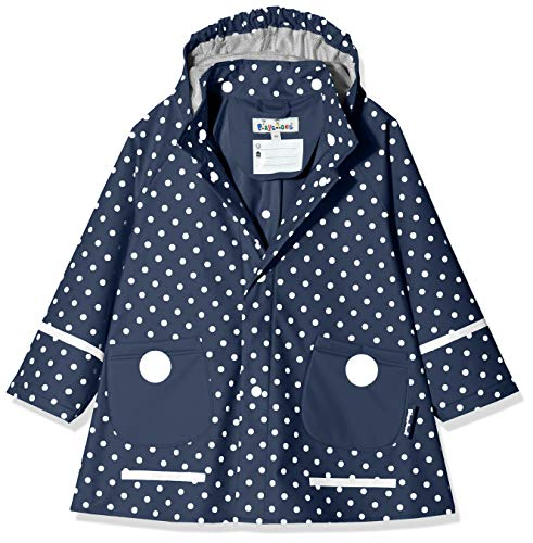 Playshoes - Abrigo impermeable con lunares de manga larga para niña, Azul,...