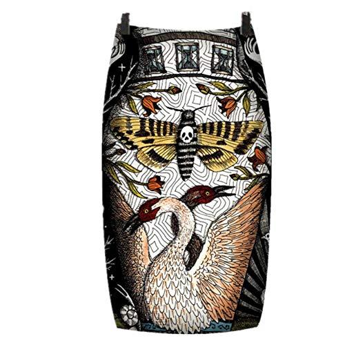 N\P Faldas de verano para mujer, estampado floral, longitud a la rodilla, cintura alta, falda lápiz vendaje vintage