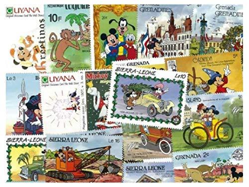 pghstamps Walt Disney Topolino 100 Francobolli Differenti Collezione per Collezionisti