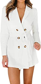 2018 New Fall Women Ladies Solid Long Sleeve Button Solid Stylish Duster Blazer Jacket Coat by iYBUIA