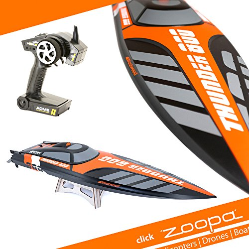 zoopa Thunder 800 Professional Speedboat | inkl. 2,4Ghz Fernsteuerung | Ready to Race (ZA0800)