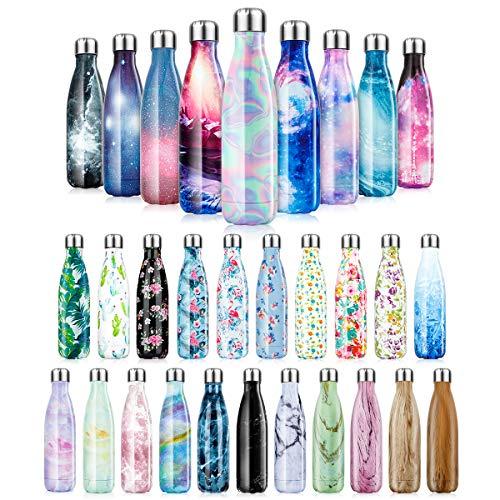 Bottiglia Acqua in Acciaio Inox Borraccia Termica Isolamento 500/750/1000 ml Bottiglia Termica-Senza BPA,Borraccia Sportive Thermos Sottovuoto Borracce a doppia parete-24 ore fredde e 12 ore calde