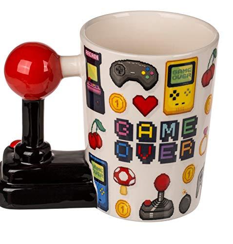 MC Trend Becher Tasse Game Over Joystick-Griff Kaffee Geschenk Deko Nerd