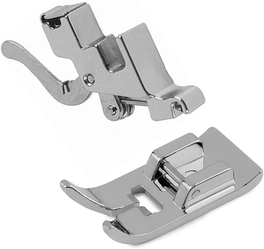 Fbshicung Snap On Shank Low Shank Adapter and Zig Zag Straight Stitch Sewing Machines Presser Foot Fit Domestic Singer, Brother, Janome, Toyota, Etc Style 2