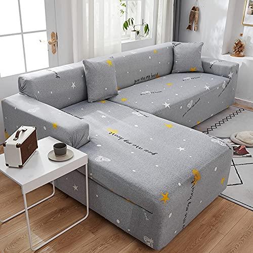 WXQY Funda de sofá de Alta Elasticidad Moderna y Moderna Funda de sofá de Sala de Estar Ajustable Funda de sofá Antideslizante Funda de sofá A2 2 plazas
