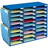 Really Good Stuff Mail Center with Wire Paper Holders- 1 Classroom Mail Center with 27 Slots – Keep Your Classroom or Office Organized, Durable, Easy Assembly