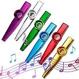 Funmo 6 Pezzi Kazoo in metallo con sei membrane flauto membrana bocca Kazoo Musical Instruments by Oibtech