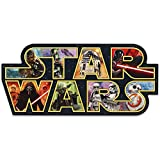 Open Road Brands Disney Star Wars Logo Collage Wood Wall Décor - for Bedroom, Man Cave or Movie Room