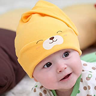 COODIO Baby Cotton Sleeping Hat Baby Cartoon Hat for Fashion Jewelry
